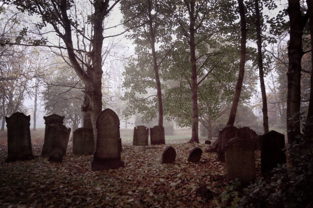 leeds-cemetery-foggy-graves-desaturated
